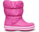 Crocs™ Kids' Winter Puff Boot Ryškiai rožinė/Šviesiai rožinė