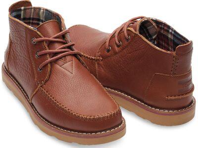 TOMS Full Grain Leather Men's Chukka Boot Brown