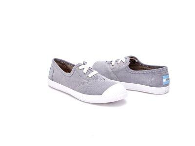 TOMS Chambray Junior's Zuma Sneaker LT Blue