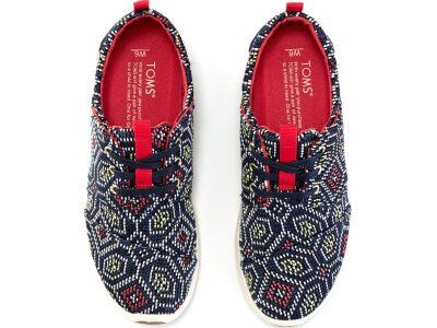 TOMS Woven Women's Del Rey Sneaker Navy/Multi