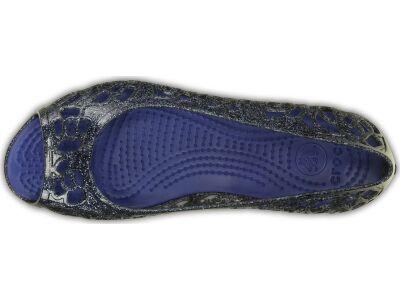 Crocs™ Isabella Glitter Flat GS Navy/Cerulean Blue