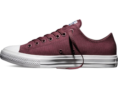 Converse Chuck Taylor All Star II Ox Deep Bordeaux/White
