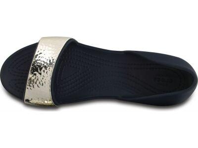 Crocs™ Lina Embellish Dorsay Flat Navy/Silver