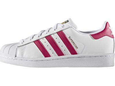 ADIDAS Junior's Superstar Foundation White/Pink