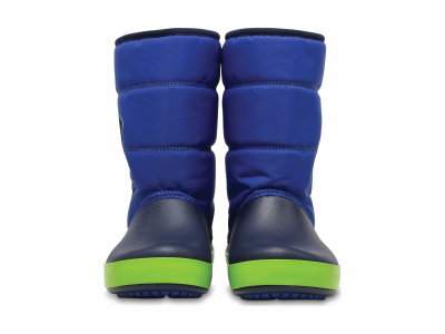 Crocs™ Lodgepoint Snow Boot Kid's Blue Jean/Navy