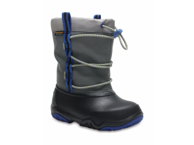 Crocs™ Swiftwater Waterproof Boot Kid's Black/Blue Jean