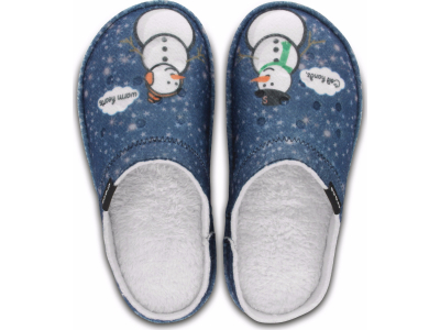 Crocs™ Classic Graphic Slipper Navy