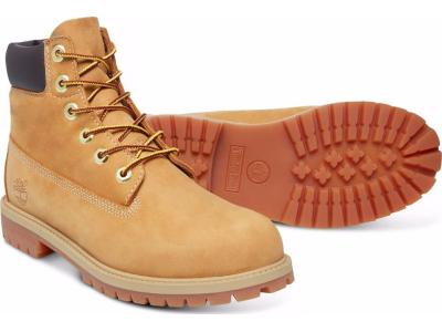 Timberland 6 In Premium Boot Junior's Wheat Nubuck
