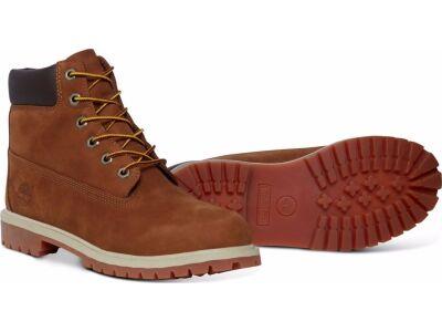Timberland 6 In Premium Boot Junior's Rust Nubuck With Honey