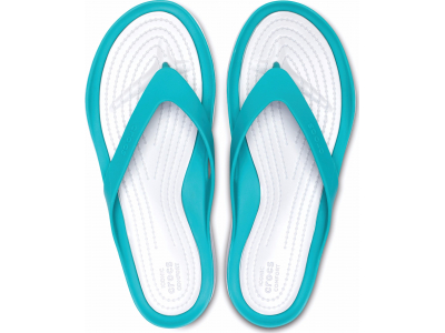 Crocs™ Women's Swiftwater Flip Tropical Teal/Pearl White