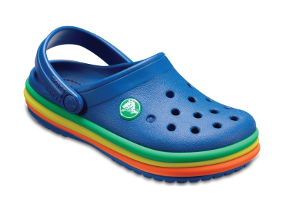 Crocs™ Kids' Crocband Rainbow Band Clog Blue Jean