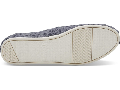 TOMS Slub Chambray Dots Women's Alpargata Navy