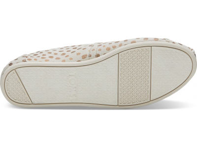 TOMS Canvas Dots Women's Alpargata Rose Gold/Natural