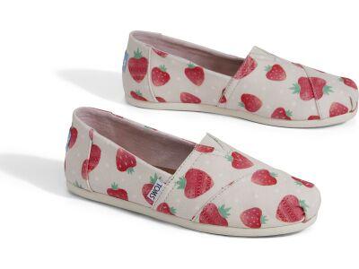 TOMS Strawberry And Cream Women's Alpargata Birch
