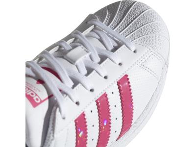 ADIDAS Superstar J White/Real Pink