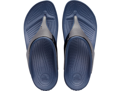 Crocs™ Sloane Hammered Metallic Flip Navy/Navy