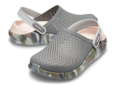 Crocs™ LiteRide Graphic Clog Charcoal/Camo