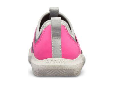Crocs™ Kids' Swiftwater Easy-On Heathered Shoe Light Grey