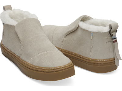 TOMS Suede Faux Fur Women's Paxton Slipon Birch