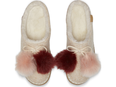 TOMS Felt Pom Pom Women's Ivy Slipper Rose Cloud Multicolor
