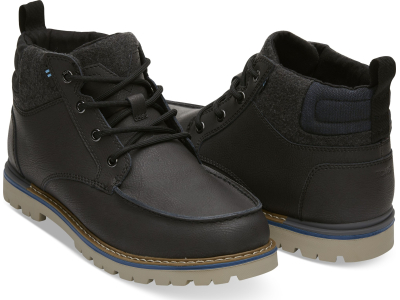 TOMS Waterproof Leather Men's Hawthorne Boot Forged Iron