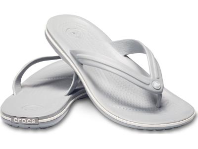 Crocs™ Crocband™ Flip Light Grey/White