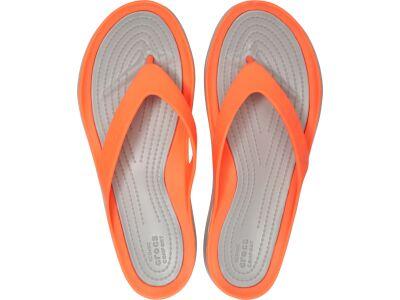 Crocs™ Women's Swiftwater Flip Bright Coral/Light Grey