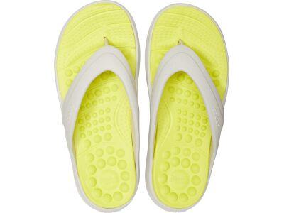 Crocs™ Reviva Flip Pearl White/Citrus