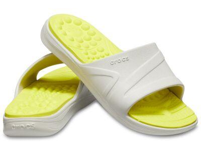 Crocs™ Reviva Slide Pearl White/Citrus