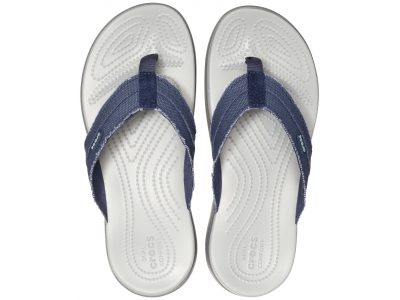 Crocs™ Santa Cruz Canvas Flip Men's Navy/Light Grey