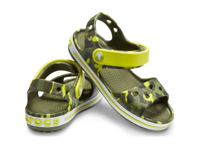 Crocs™ Crocband Seasonal Graphic Sandal Kid's Citrus