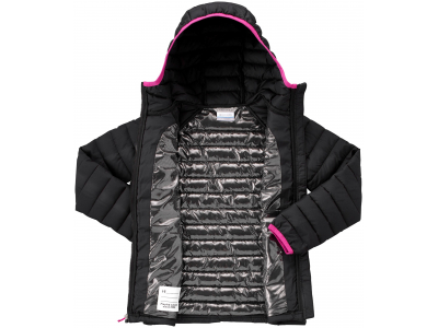 Columbia Powder Lite Girls Hooded Jacket Black