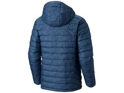 Columbia Powder Lite Hooded Jacket WO1151 Dark Mountain Crosshatch Print