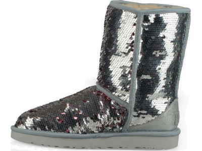 UGG Classic Short Sequin Silver