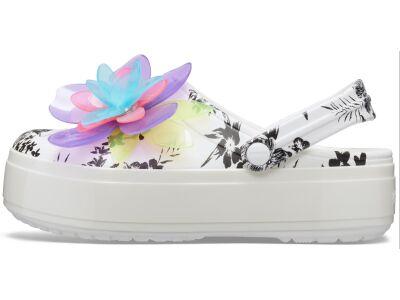 Crocs™ Crocband Platform Hyper Tropic Clog Neon Floral/White