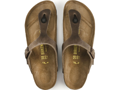 Birkenstock Gizeh Oiled Leather Tabacco Brown