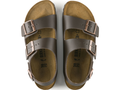 Birkenstock Milano Smooth Leather Dark Brown