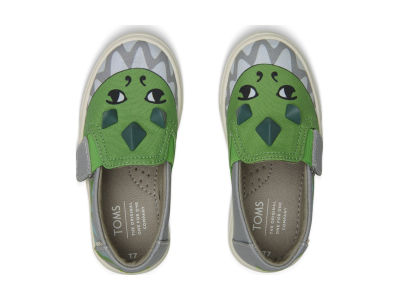 TOMS Dino Glow In The Dark 3D Kid's Luca Slipon Grey