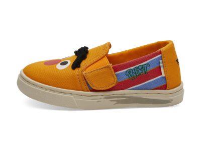 TOMS Bert and Ernie Face Canvas Kid's Luca Slipon Yellow/Orange