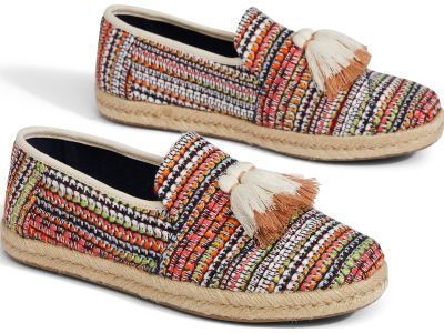 TOMS Global Woven Women's Deconstructed Alpargata Cherry Tomato