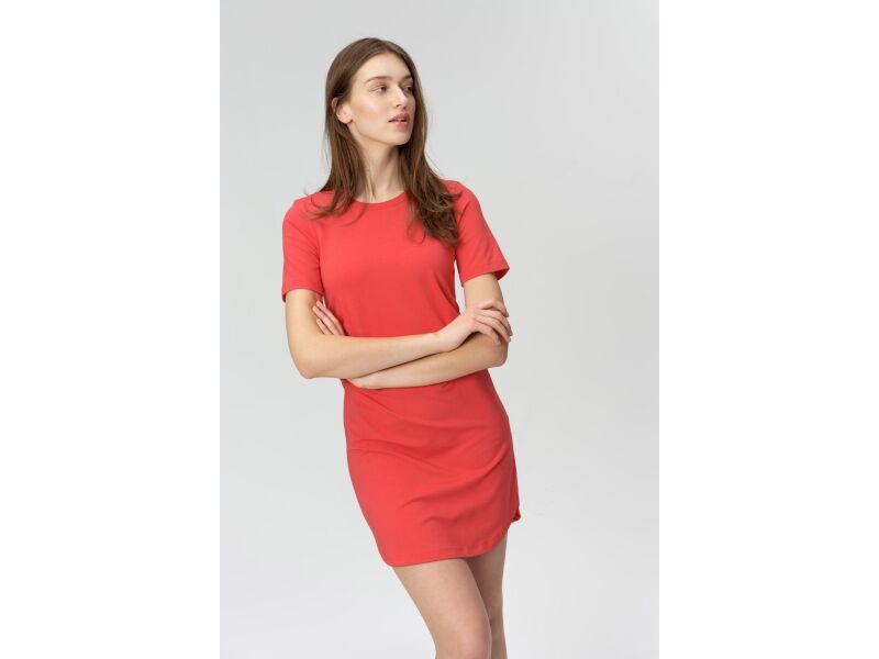 AUDIMAS Švelnaus modalo suknelė 2011-033 Poppy Red