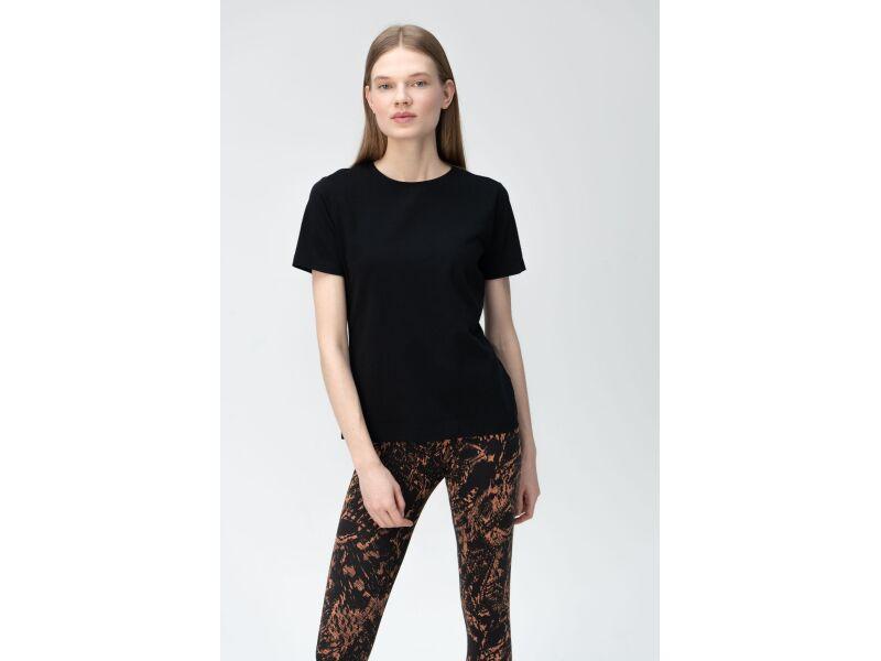 AUDIMAS Tamprūs medvilniniai marškinėliai 2011-073 Black