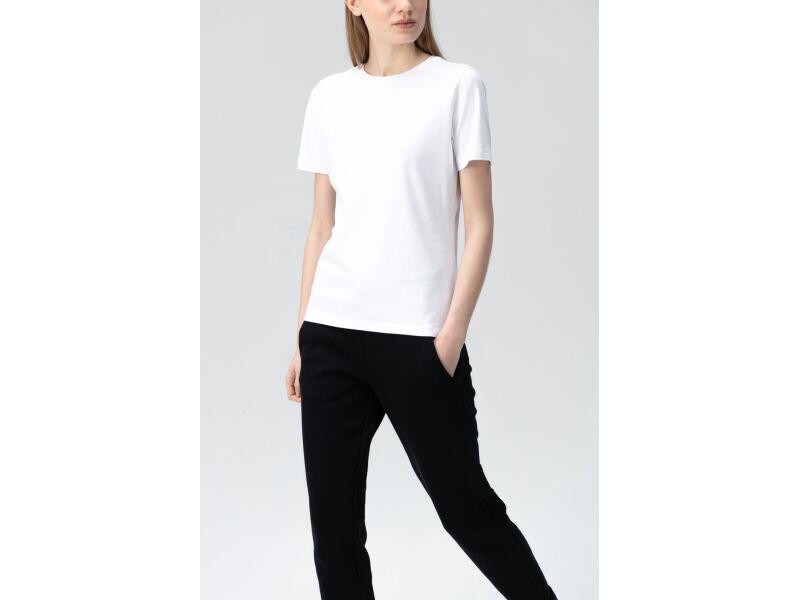 AUDIMAS Tamprūs medvilniniai marškinėliai 2011-073 White