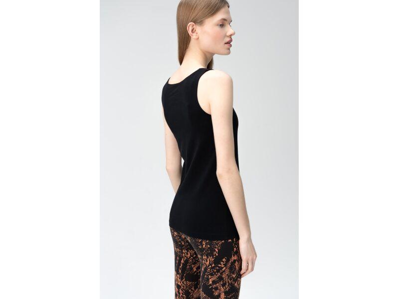 AUDIMAS Medvilniniai berankoviai marškin. 2011-079 Black