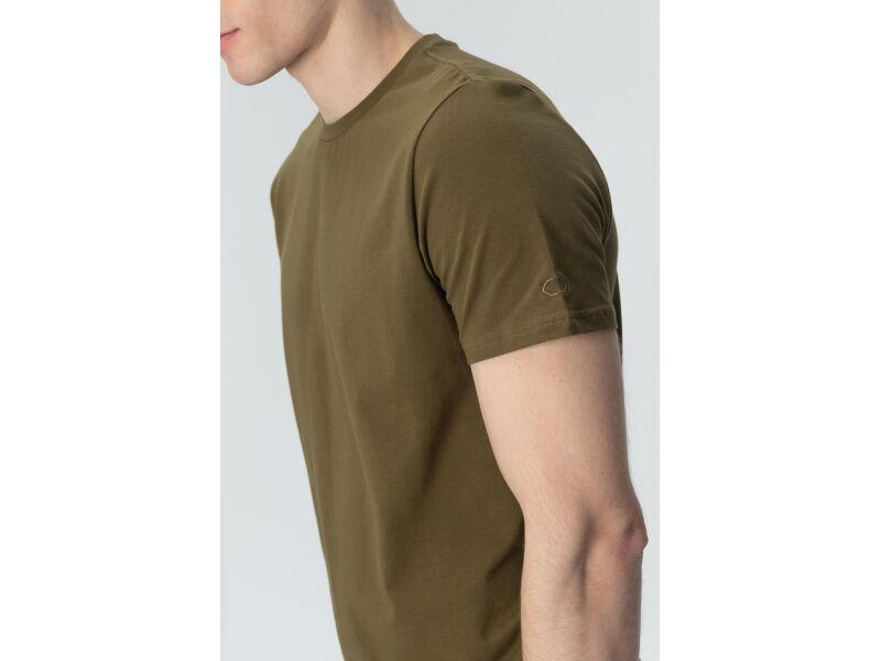 AUDIMAS Tamprūs medvilniniai marškinėliai 2011-472 Dark Olive