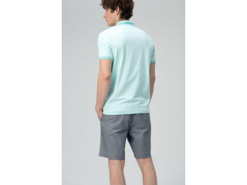 AUDIMAS Tamprūs medv. polo marškinėliai 2011-479 Blue Light