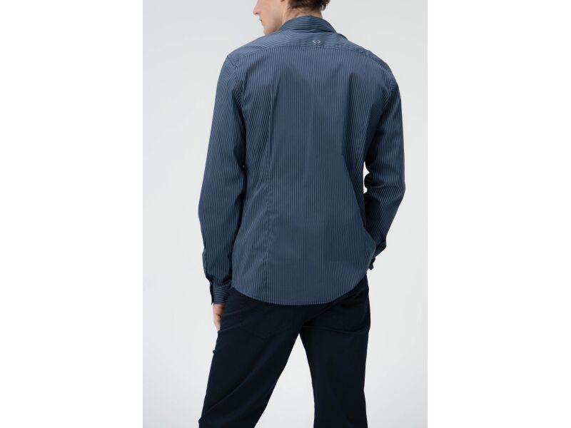 AUDIMAS Tampraus audinio marškiniai 2011-500-2 Navy Bl/Bering Sea