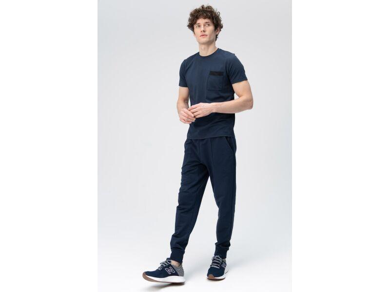 AUDIMAS Švelnūs modalo marškinėliai 2011-512 Navy Blazer