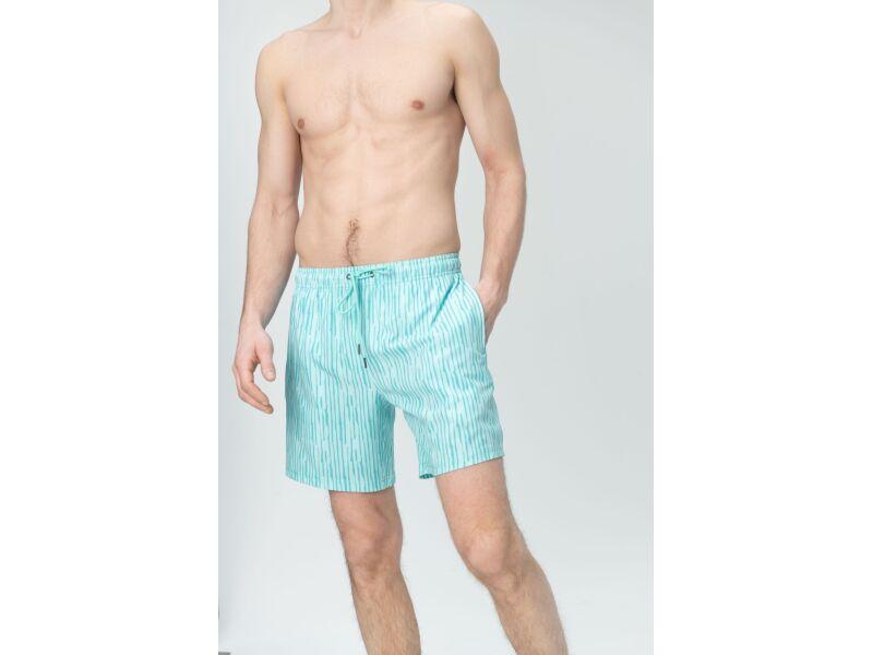 Audimas MODERATE LENGTH BEACH SHORTS 2011-515-2 Blue Light Pr