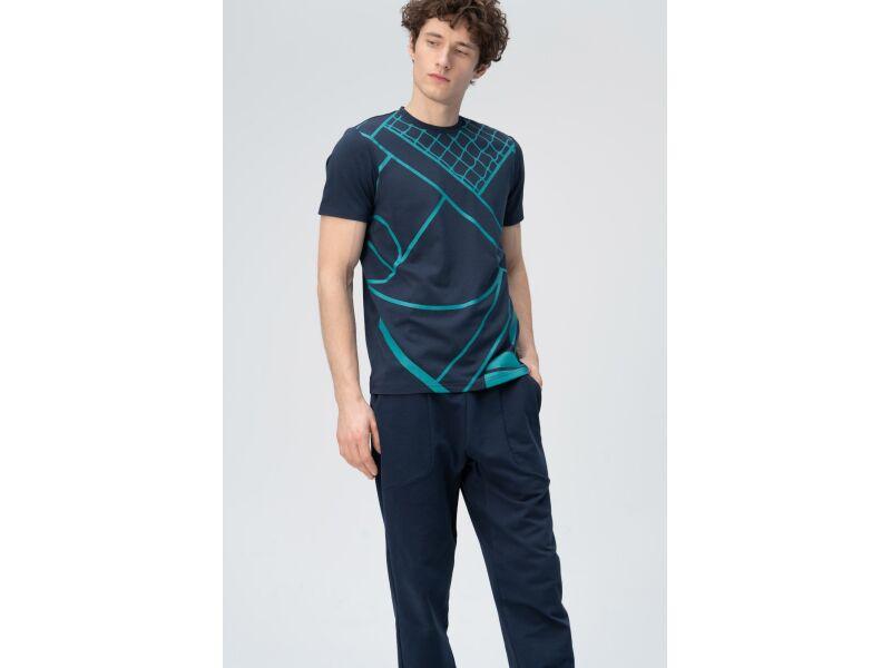 AUDIMAS Marginti švelnūs modalo marškin. 2011-526 Navy Blazer